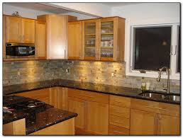 Kitchen Cabinets With Granite Countertops Oak Cabinets With Granite Countertops Home And Cabinet Reviews