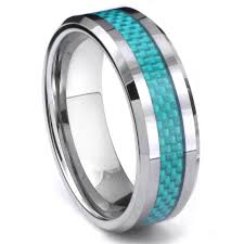carbon fiber wedding rings cato tungsten carbide blue carbon fiber ring