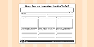 living dead or never alive activity sheet activity sheet