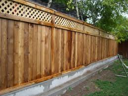 Garden Fence Ideas Design Outdoor Landscaping Creative Pine Wood Stockade Backyard Fence