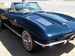 vintage corvette blue 1963 daytona blue fuel injected corvette convertible corvette