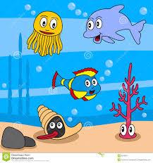 cartoon ocean life 1 stock images image 9219374