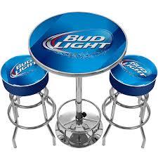 amazon com bud light ultimate gameroom combo 2 bar stools u0026 pub