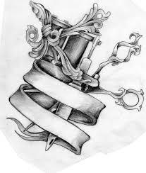tattoo gun sketch tattoos of tattoo machines scissors and tattoo machine tattoo
