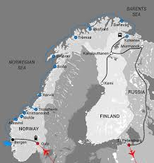 Northern Lights Map Trail Of The Northern Lights Travel Directors