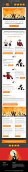 halloween web template halloween email sales template mailchimp