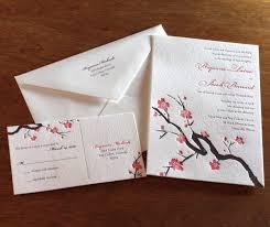 Asian Wedding Invitation Asian Wedding Invitations Cherry Blossoms Letterpress Wedding