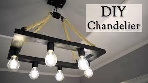 Diy Led Chandelier Diy Led Chandelier Rustic Hemp Rope Chandelier For Creativity