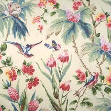 Scalamandre Upholstery Fabric 6868m 001 Bird Song Multi On Cream By Scalamandre