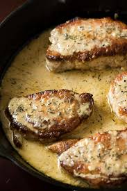 creamy lemon thyme pork chops u2013 12 tomatoes