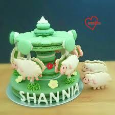 loving creations for you sheep matcha macaron carousel