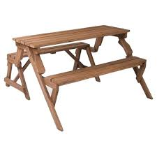 Folding Wood Picnic Table Freeport Park Andres Folding Picnic Table And Bench U0026 Reviews