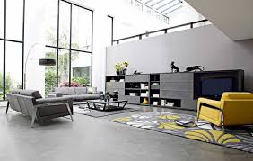 Yellow And Grey Home Decor Grey Sofa Living Room Ideas About Decor On Pinterest Tufted Couch