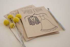 kraft paper wedding programs simple wedding program