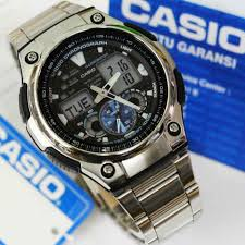 Jam Tangan Casio Pria jam tangan casio analog digital aq 190wd original