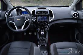 Chevrolet Sonic Interior 2014 Chevrolet Sonic Rs Review Web2carz