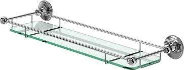 Bathroom Glass Shelves With Rail Burlington Bathrooms Glass Shelf With Rail 55cm Bathroomand Co Uk