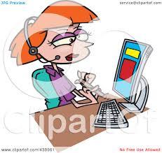 royalty free rf clip art illustration of a cartoon secretary