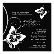 Black And White Wedding Invitations Black And White Wedding Ceremony Invitations Trendy Mods Com