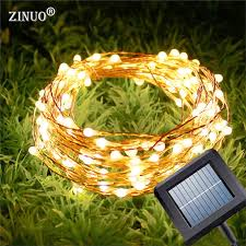 copper solar lights outdoor zinuo solar garland 10m 15m copper wire led string christmas light