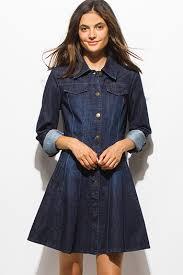 dark blue washed denim sleeveless button up cutoff frayed tunic