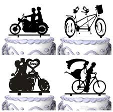 cursive groom and bride wedding cake topper silhouette cake stand