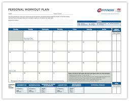 workout calendar template