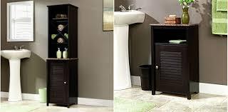 Bathroom Storage Cabinets Floor Over The Toilet Storage Mybedmybath Com