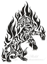 flame tiger tribal tattoo by avestra on deviantart