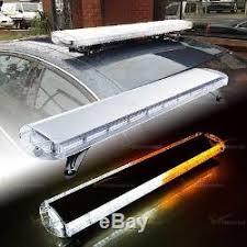 warning light bar amber 47 amber white 88 led strobe beacon warning light bar emergency