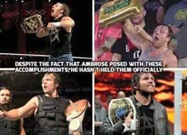 Dean Ambrose Memes - dean ambrose is now the first shield to become grand slam chion