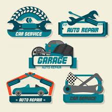 autos designen auto repair logos vector free