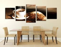 dining room art 5 piece canvas wall art coffee multi panel art coffee bean