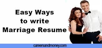 easy ways to write marriage resume3 jpg