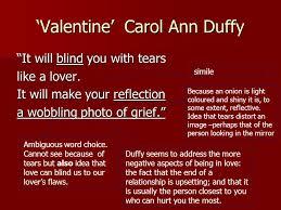Carol Blind Valentine U0027 Carol Ann Duffy Ppt Video Online Download
