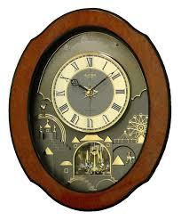 rhythm clocks timecracker ultra ii musical wall clock 4mh864wu06