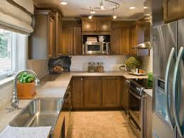 track kitchen lighting small kitchen decoration using solid walnut wood kitchen cabinet