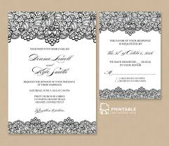 wedding invitations and rsvp free pdf wedding invitation template black lace vintage wedding
