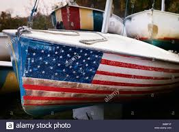 How To Paint American Flag The Prow Of A Boat In Dry Dock Painted With A Representation Of