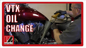 2005 honda vtx 1800 oil change partzilla com youtube
