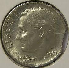 1978 dime error 1978 d roosevelt dime clip planchet mint error coin ae