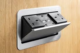 pop up pump electrical socket kitchen worktop office desk desk usb