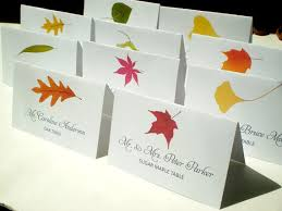 printable name place cards instant printable diy assorted fall tree name place