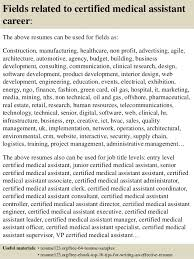 Samples Of Medical Assistant Resume by Certified Medical Assistant Resume Sample Certified Nursing