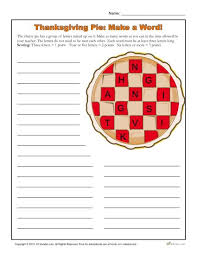 thanksgiving word thanksgiving pies worksheets and
