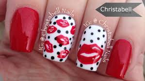 christabellnails valentine u0027s lips nail art tutorial youtube