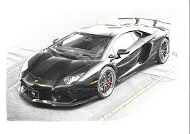 car lamborghini drawing lamborghini aventador by sacydraw on deviantart