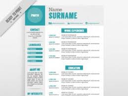 resumes with color resume template in white color with light blue details free
