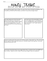 2nd grade subtraction word problems printable coordinate grid 5
