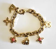 bracelet charms ebay images Louis vuitton charm bracelet gold plate monogram charms ebay png